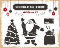 Christmas icons set. Royalty Free Stock Photos