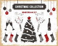 Christmas icons set. Royalty Free Stock Image