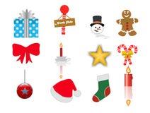 Christmas icons set 2 Stock Photos