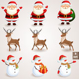 Christmas icons set - 3 Stock Photos
