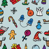 Christmas icons set. Holiday objects collection. Vector illustration stock illustration