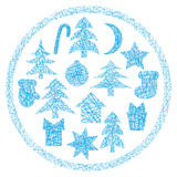 Christmas Icons set Stock Photo