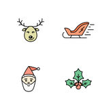 Christmas icons set Royalty Free Stock Images