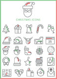Christmas icons set  Stock Photography
