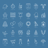 30 Christmas Icons Royalty Free Stock Photos