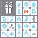 Christmas Icons Set Stock Photo