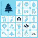 Christmas Icons Set Stock Images
