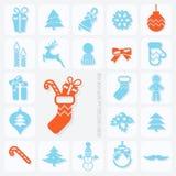 Christmas Icons Set Stock Photography