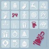 Christmas Icons Set Royalty Free Stock Photos