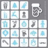Christmas Icons Set Royalty Free Stock Photo