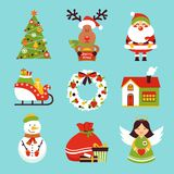 Christmas icons set Royalty Free Stock Photography