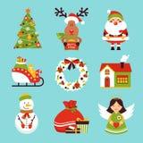 Christmas icons set royalty free illustration