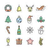 Christmas icons set - Simplus series Royalty Free Stock Images