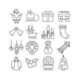 Christmas icons set. Stock Photo