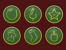 Christmas icons. Set of icons on a theme Merry Christmas Royalty Free Stock Photos