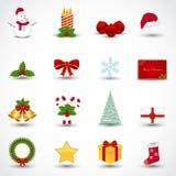 Christmas icons. Set of various Christmas icons Stock Photo