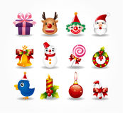 Christmas icons set. Vector Royalty Free Stock Photos