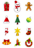 Christmas icons set. Vector Stock Photography