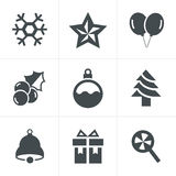 Christmas Icons Set, Vector Design Stock Photo