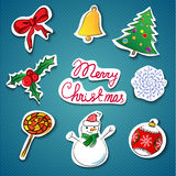 Christmas icons set.Vector illustration. This is file of EPS10 format Royalty Free Stock Images