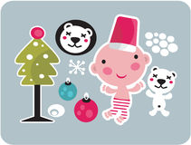 Christmas icons set. Royalty Free Stock Photography