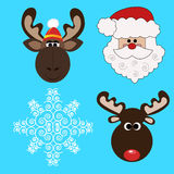 Christmas icons-1. Christmas icons set-1.Vector illustration Royalty Free Stock Photography