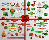 Christmas icons set.Vector illustration Stock Image