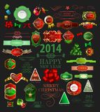 Christmas icons set.Vector illustration Royalty Free Stock Image
