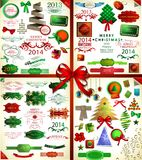 Christmas icons set.Vector illustration Royalty Free Stock Images