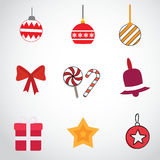 Christmas Icons set Stock Photos