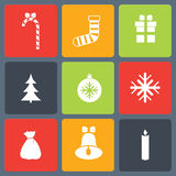 Christmas icons set. Vector illustration of flat christmas icons set vector illustration