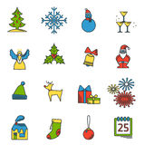 Christmas icons set 1 Royalty Free Stock Photography