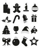 Christmas Icons Set royalty free stock photography