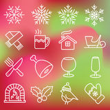 Christmas icons set Stock Image