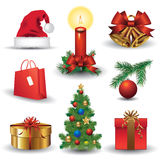 Christmas icons Royalty Free Stock Photo