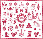 Christmas icons. Set of christmas and winter icons Royalty Free Stock Photos
