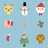Christmas Icons set. Christmas and Winter icons collection. Christmas Icons set, . Christmas icons, elements and illustrations. Christmas Icons/Objects vector illustration