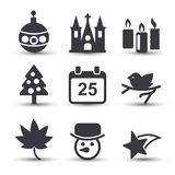 Christmas icons sets. For web design and application interface, also useful for infographics. Vector illustration Royalty Free Stock Photo