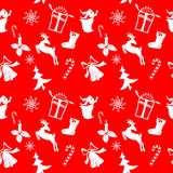 Christmas icons silhouettes. Seamless texture units Royalty Free Stock Photo