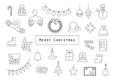 Christmas card made from christmas related icons stock illustration