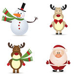 Christmas icons royalty free illustration