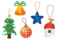 Christmas icons and symbols Royalty Free Stock Photography