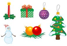 Christmas icons and symbols Stock Photos