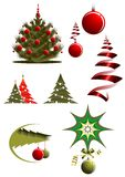 Christmas icons and symbols Stock Images