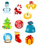 Christmas icons and symbols Royalty Free Stock Photo