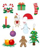 Christmas icons and symbols Royalty Free Stock Photos