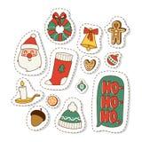 Christmas icons symbols vector set. Stock Photo