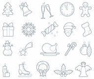 Christmas icons Royalty Free Stock Photography