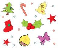 Christmas icons-vector Stock Photo