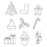 Christmas icons vector Royalty Free Stock Photos